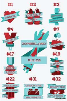 Zombieland rules, with one important one missing... NUT UP OR SHUT UP :)