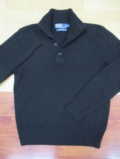from $30.0 - #RalphLauren Polo Black Cashmere Mock Neck Sweater - Medium