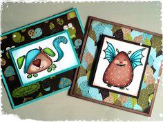 Two simple cards made by DT-Linda S http://blog.pysseldags.com/2014/06/kort-till-tva-sma-broder.html