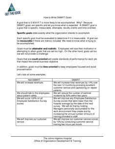 smart goals worksheet doc
