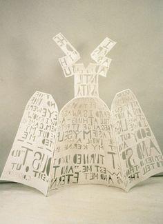 Lesley Dill/ Hinged Poem Dress, 1991M/M on… | mikkipedia