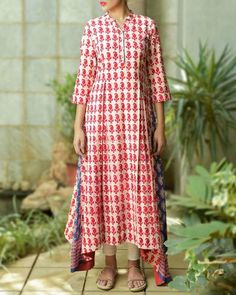 Red Bagru Tunic I Shop at :http://www.thesecretlabel.com/kapraha