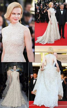 weddinginspirasi: Nicole Kidman could well be the best dressed celebrity on day 9 of the Cannes Film Festival She dazzled the red carpet in an elegant white Valentino gown from the Spring/Summer 2013 couture collection Glam Dresses, Glamorous Dresses, Bridal Dresses, Nice Dresses, Wedding Gowns, Celebrity Gowns, Celebrity Red Carpet, Celebrity Style, Gorgeous Wedding Dress