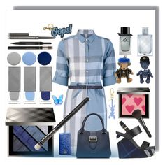 """""""Blue Jeans"""" by ellenfischerbeauty ❤ liked on Polyvore featuring Burberry, Chanel, Anya Hindmarch and Baccarat"""