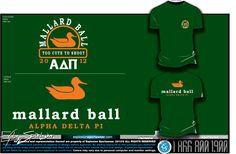 ADPi Theta Delta- University of Delaware Mallard Ball T-Shirt
