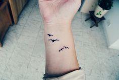 Cute bird tattoo.