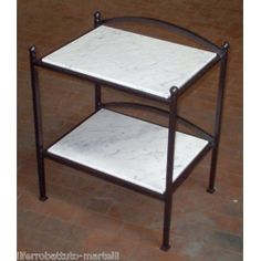 Bedside Table Wrought Iron. Customize Realizations. 884