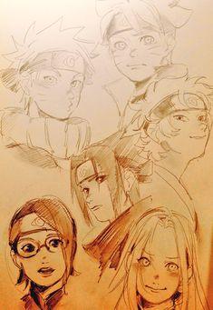 Anime Naruto, Naruto Fan Art, Naruto Cute, Naruto Shippuden Anime, Manga Anime, Boruto, Naruto Drawings, Anime Drawings Sketches, Anime Sketch