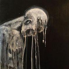 Anthony Rondinone Art - Where we are Scary Art, Art Painting, Psychedelic Art, Surreal Art, Illustration Art, Dark Art, Dark Art Drawings, Art Inspiration, Aesthetic Art