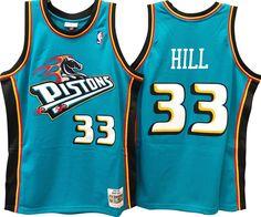 641daf1a3 GRANT HILL DETROIT PISTONS NBA HARDWOOD CLASSICS THROWBACK SWINGMAN JERSEY