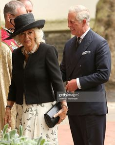 Camilla, Duchess of Cornwall and Prince Charles, Prince of Wales attends a memorial service for Mark Shand at St Paul's Church