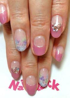 Pink summer nail