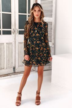 Midday to Three Dress Navy Office Outfits Women Casual, Classy Outfits, Casual Dresses For Women, Pretty Outfits, Cute Dresses, Clothes For Women, Dress Casual, Dress Shorts Outfit, Homecoming Outfits