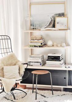 Styled Bookshelf, moroccan, metallic, leather, living space, #homegoals