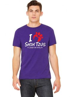 i love shih tzus its people who annoy me 1 Tshirt