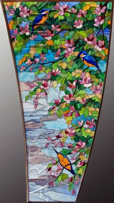 """Stained glass window  """"Magnolia"""""""