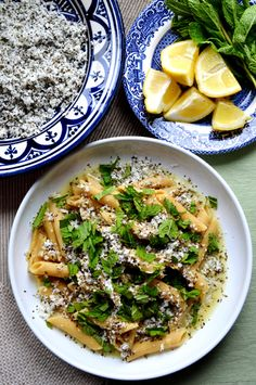 Recipe for halloumi pasta with lemon and mint
