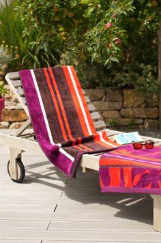 Drap de plage coton Jean-Vier Belharra Transat - Cotton beach towel Jean-Vier Belharra Transat >> http://www.jean-vier.com/