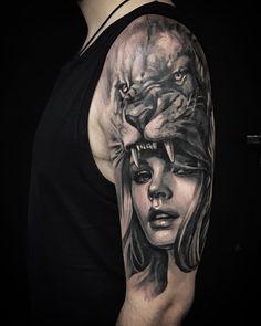 Os mestres do Preto e Cinza – Tattoo2me Magazine Tattoos 3d, Bible Tattoos, Cool Arm Tattoos, Badass Tattoos, Body Art Tattoos, Tattoo Drawings, Tattos, Tiger Tattoo Sleeve, Realistic Tattoo Sleeve