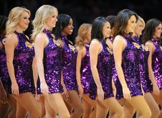22012 trail blazers vs lakers gallery my style Famous Cheerleaders, Panthers Cheerleaders, Girls Cheerleader Costume, Dance Team Uniforms, Lakers Girls, Cute Cheer Pictures, Trail Blazers, Halloween Fashion, Los Angeles Lakers
