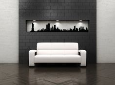 New York City Skyline  Vinyl Wall Art Decal by VinylWallAccents, $49.00 - if it wasn't a decal...