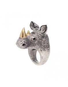 Rhinoceros Ring by Nach Bijoux