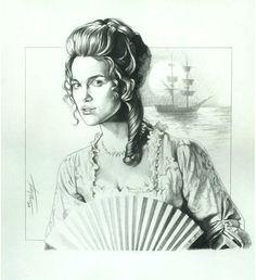 Elizabeth Swan - Pirates of the Caribbean - Trevor Grove Davy Jones, Pirate Themed Tattoos, Elisabeth Swan, Swan Drawing, Pirate Queen, Captain Jack Sparrow, Pirate Life, Pirates Of The Caribbean, Johnny Depp