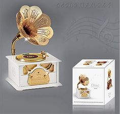 AENHG Gramophone music box music box creative ornaments >>> For more information, visit image link.