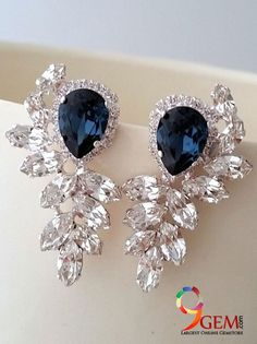A symbol of nobility, truth, and romance, #Sapphire earrings from 9gem.com timeless elegance