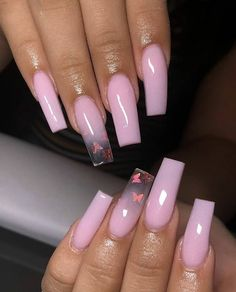 Polygel Nails, Glam Nails, Dope Nails, Coffin Nails, Summer Acrylic Nails, Cute Acrylic Nails, Ambre Nails, Birthday Nails, Nagel Gel