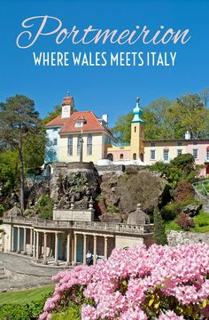 A seaside village of pastel coloured buildings and tropical flowers, quirky Portmeirion belongs more in the Mediterranean than on the North Wales coast. Vacation Trips, Day Trips, Cool Places To Visit, Places To Go, Ireland With Kids, Road Trip Packing, Snowdonia, Anglesey, Seaside Village