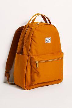Herschel Nova Mid Backpack by Herschel Supply Co. at Free People, Brown, One Size Cute Backpacks For Women, Cute Backpacks For School, Cute School Bags, Trendy Backpacks, Day Backpacks, Leather Backpacks, Herschel Backpack Outfit, Aesthetic Backpack, Kawaii Bags
