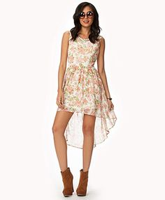 Floral Chiffon High-Low Dress at Forever 21.  Perfect summer dress!