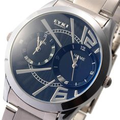 The product is a wrist watch with cool and fashionable design. Apart from acting as an ordinary watch that advise the time for you, it is also a wonderful and unique ornaments to make you cooler and more charming. It enjoys great popularity. Product Description  Features: * New EYKI brand w...