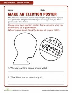 Printables Civics Worksheets seasons politics and the ojays on pinterest worksheets make a campaign poster
