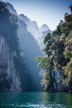 "mesogeios:  ""Cheow Lan Lake at Khao Sok National Park in Southern Thailand  """