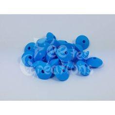 Lot de 10 Perles Plates forme lentillles parme en silicone