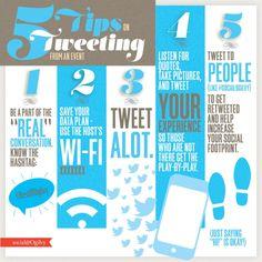 Una infografía con 5 consejos para tuitar un evento