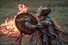 "Stunning pictures as shamans from around the world gather in Sayan Mountains, Shamans from around the world rouse the ancient Siberian spirits at festival ""Call of 13 Shamans"" in Siberia summer 2014"