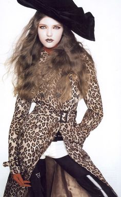A Clockwork Orange | Vogue China December 2005Vlada Roslyakova by Greg Kadel Coat: Alexander McQueen | Fall 2005 RTW