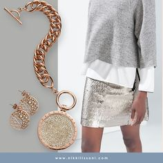 The ultimate proof that rose gold and silver go very-very well together ; ) -xx- Nikki