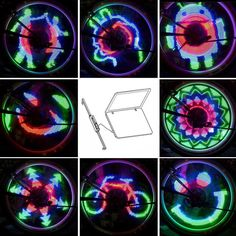 48 RGB LED Programmable Bicycle Wheel Light
