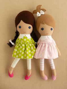 Reserved for Nickie Fabric Dolls Rag Dolls Blond by rovingovine