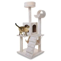 Masione® Cat Nap Activity Tree Condo Pet Furniture Scratching Post Premium Quality Pet House Cat House, Beige *** Find out more about the great product at the image link.
