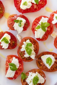 Heirloom Tomatoes with Ricotta, Basil and Olive Oil | CanuckCuisine ...
