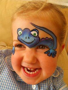Face painting salamander