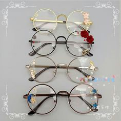 disney characters - Online Shop Hand made the original lolita soft sister sweet Japanese harajuku girls round box cherry blossom put glasses cos who gay men Aliexpress Mobile Cute Glasses, Girls With Glasses, Glasses Frames, Girl Glasses, Glasses Outfit, Hipster Glasses, Harajuku Girls, Harajuku Style, Women Accessories