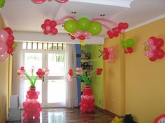 Decorated with balloons  !!