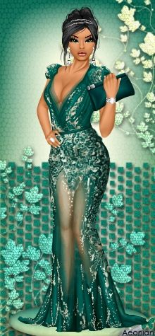 Dress Up Games | Diva Chix: The Fashionista's Playground #dressupgames #fashiongames #fashion #girlgames #gown #fashionillustrations #green