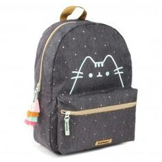 Purrfect Backpack – Buy now at EMP – More Fan merch available online - Unbeatable prices! Cat Merchandise, Zip Puller, Outline Designs, Laptop Rucksack, Pusheen Cat, Gaming Merch, Buy A Cat, Gold Sparkle, School Backpacks